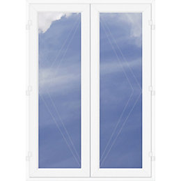 Clear Glazed 2 Panel White PVCu External French