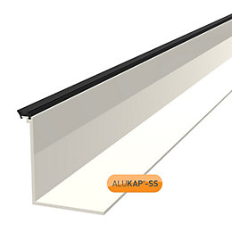 Alukap White Roof Low Profile Cap, (H)90mm (W)60mm