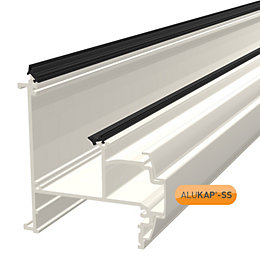 Alukap White Roof Wall & Eaves Beam, (H)110mm