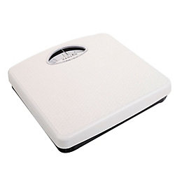 Hanson White Compact Mechanical Bathroom Scale