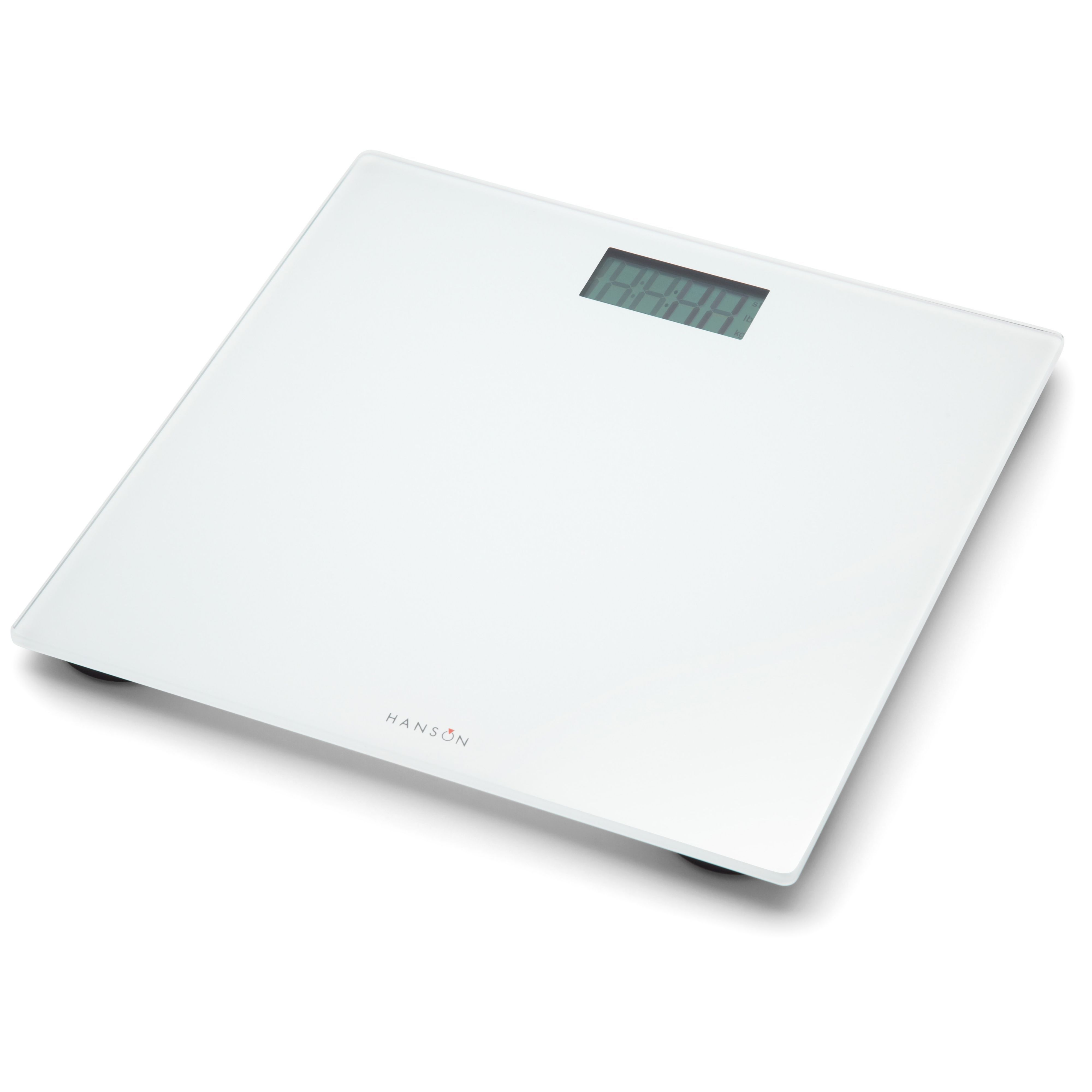 Hanson White Slim Bathroom Scale