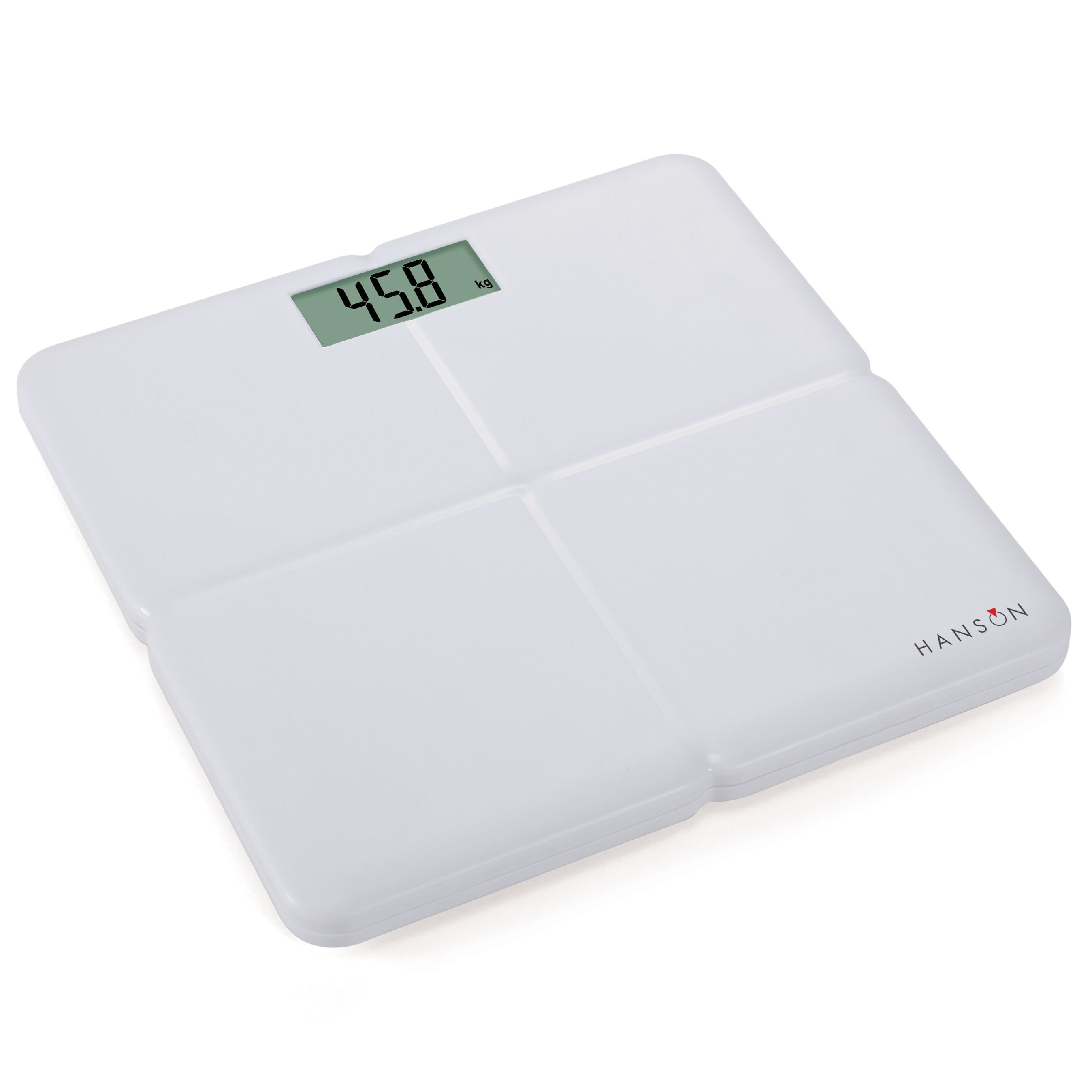 B q bathroom scales - Hanson White Slim Bathroom Scale