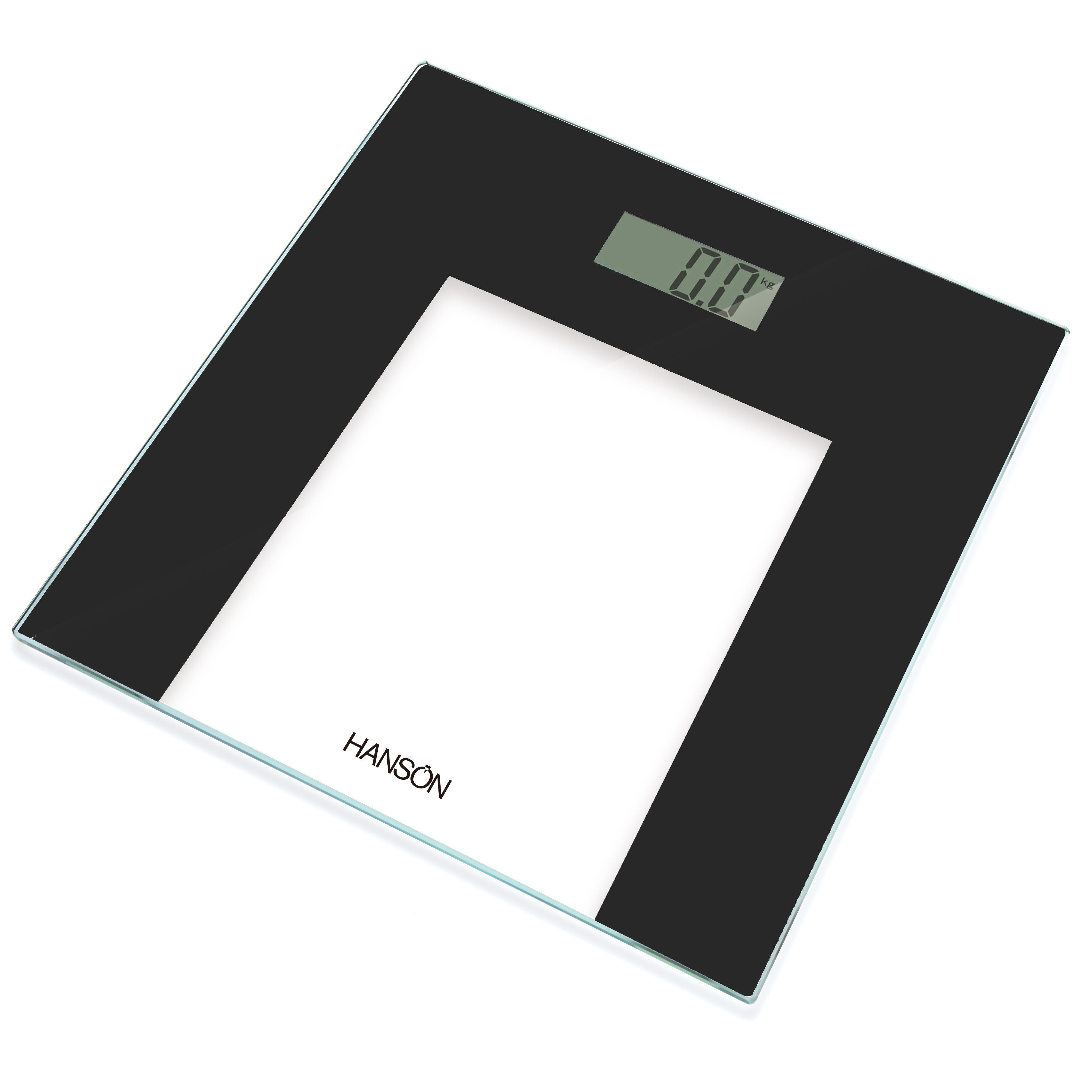 Hanson Black Slim Bathroom Scale
