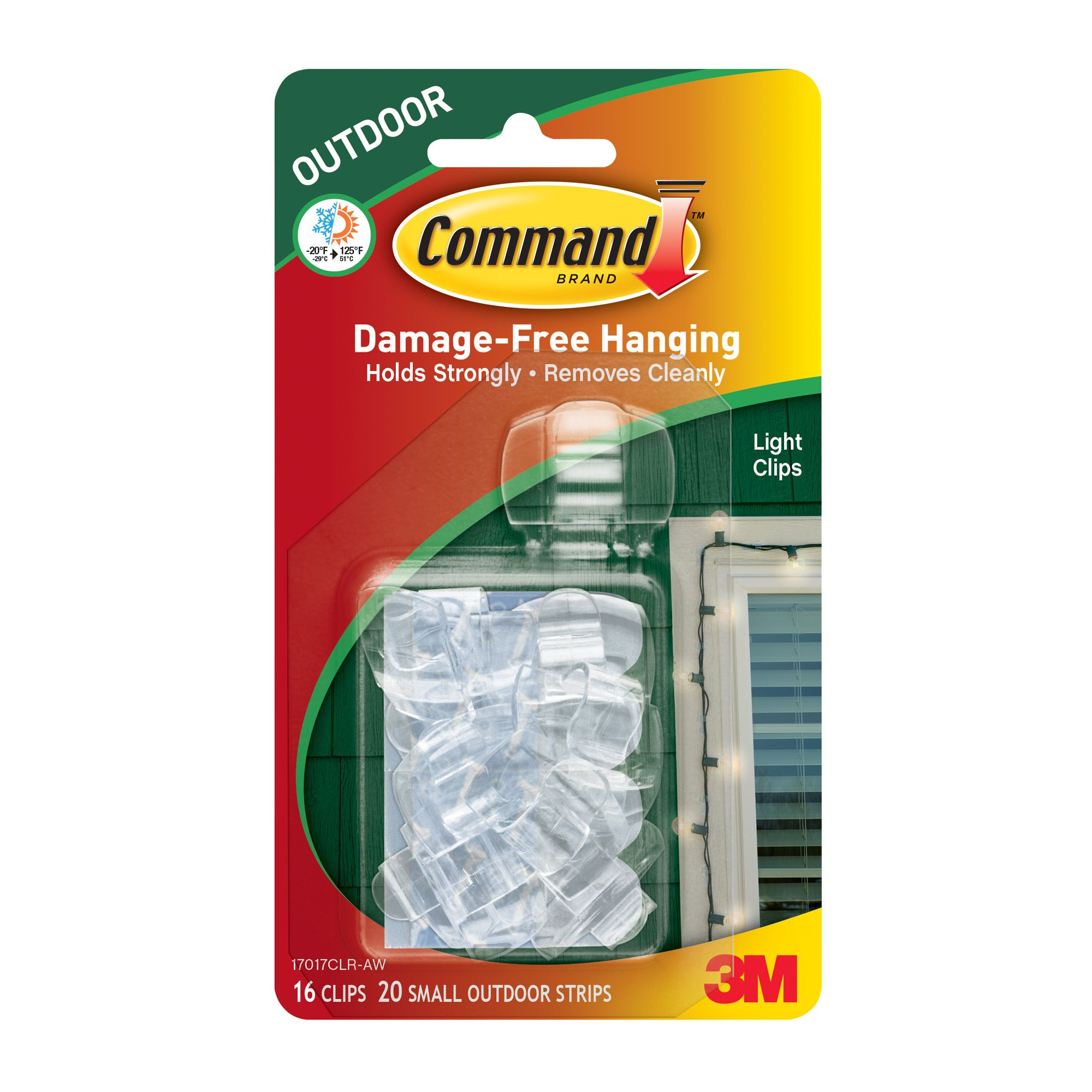 mand Outdoor Plastic Light Clips Pack of 16