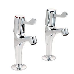 Boston Chrome Effect Pillar Taps