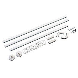 B&Q White 5 Way Curtain Rail Kit (L)840mm