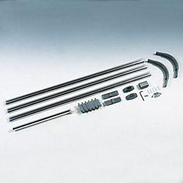 B&Q Shower Curtain Rod (L)800mm