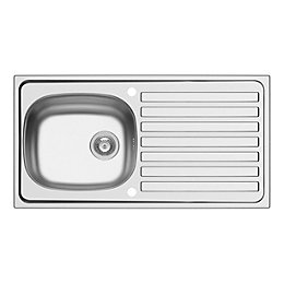 Kolva 1 Bowl Satin Stainless Steel Sink &