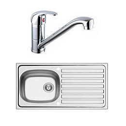 Kolva 1 Bowl Satin Stainless Steel Sink &