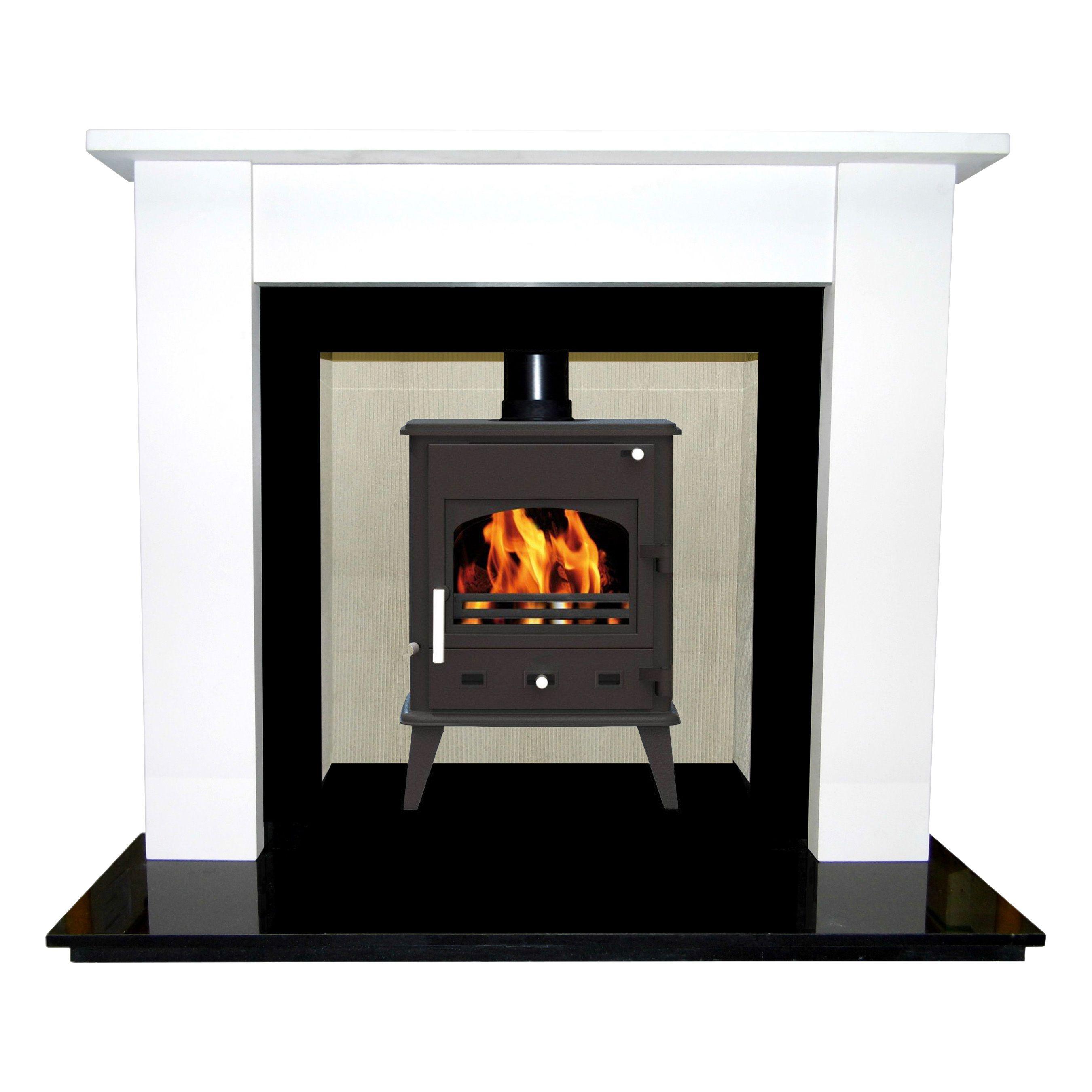 longford cream jura stone fire surround set departments diy at b u0026q