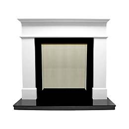 Warwick White Micro Marble Fire Surround Set