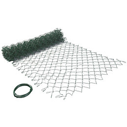 Blooma PVC Coated Steel Wire Fencing (L)10m (W)1m