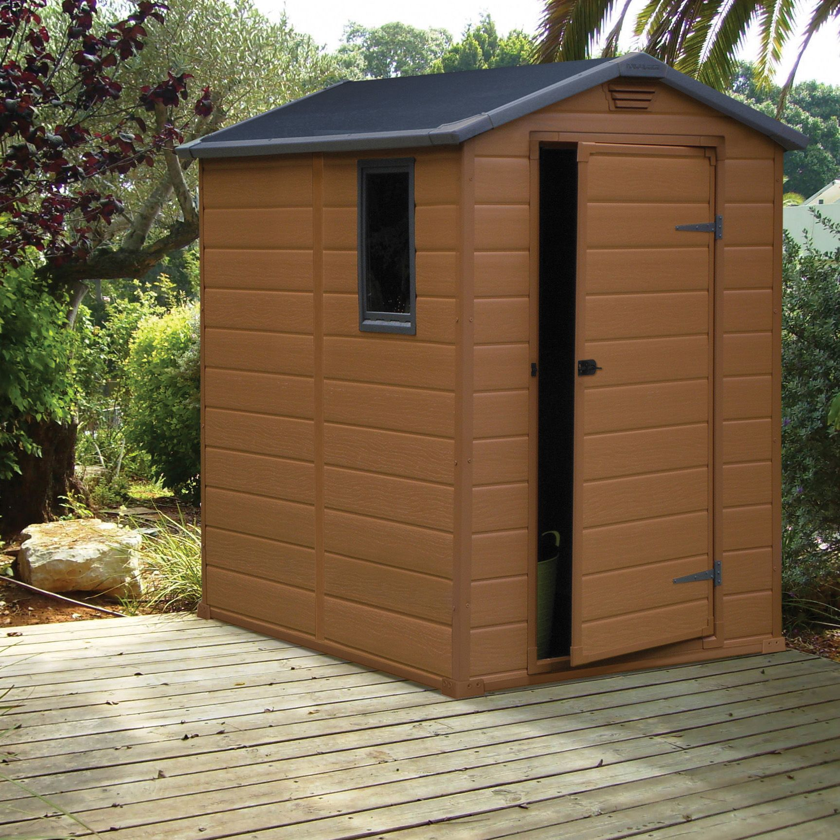 6x4 apex shiplap plastic shed base included departments for Garden shed 6x4 sale