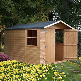 10X7 Guernsey Apex Shiplap Wooden Shed with Assembly