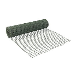 Green PVC Wire Mesh (W)500mm (L)5m