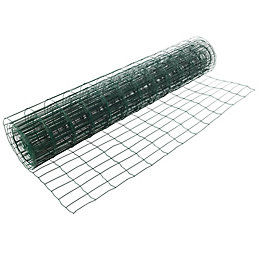 Blooma PVC Coated Steel Wire Fencing (L)10m (W)1.2m