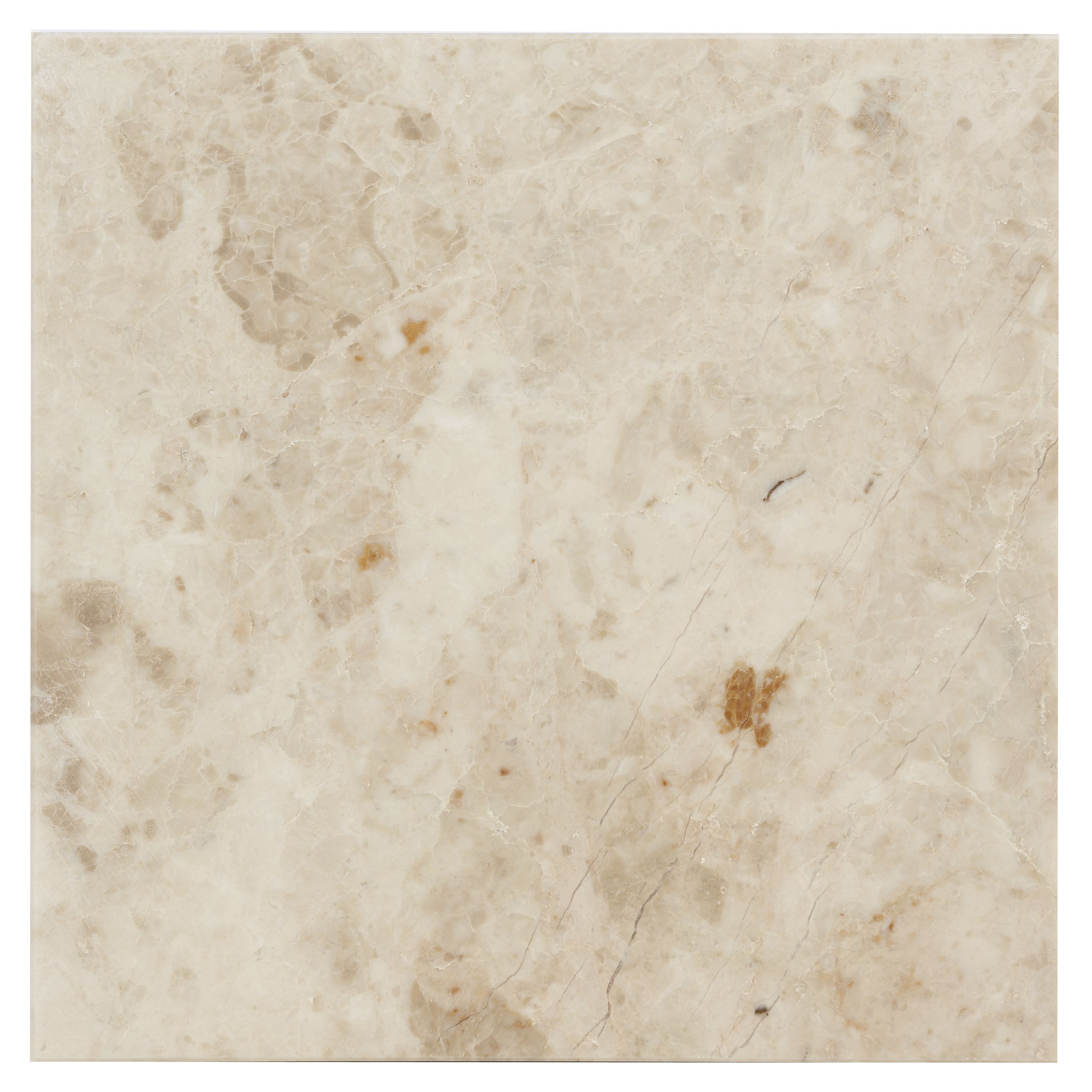 Cappuccino Marble Effect Marble Wall & Floor Tile, Pack Of 5, (l)305mm (w)305mm