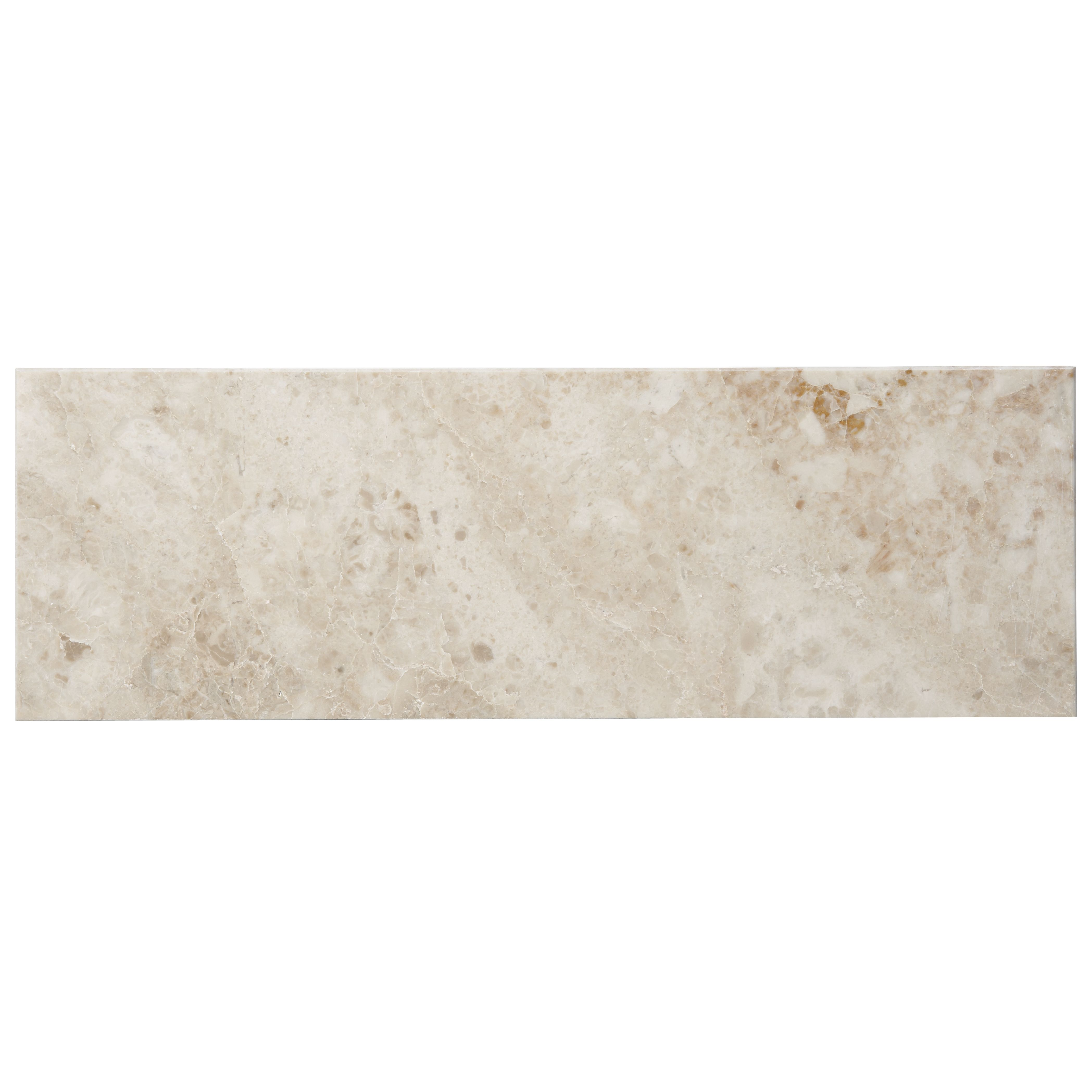 Cappuccino Marble Effect Marble Wall & Floor Tile, Pack Of 7, (l)457mm (w)152mm