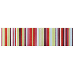 Barcode Pink Striped Ceramic Border Tile, (L)200mm (W)50mm