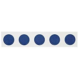 Button Blue Ceramic Border Tile, (L)250mm (W)50mm