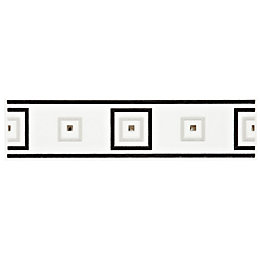 Turner Black Ceramic Border Tile, (L)250mm (W)60mm