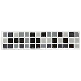Mini Mosaic Black & White Mosaic Ceramic Border