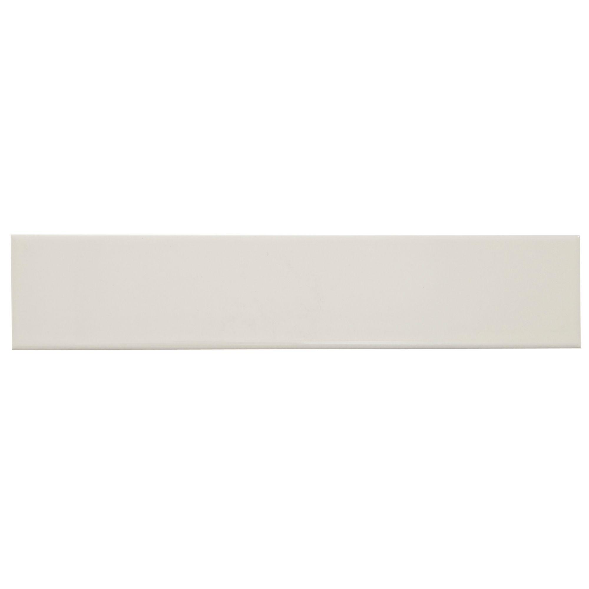 Levanto White Ceramic Wall Tile Pack Of 10 L 250mm W: Padstow Cream Ceramic Wall Tile, Pack Of 44, (L)150mm (W