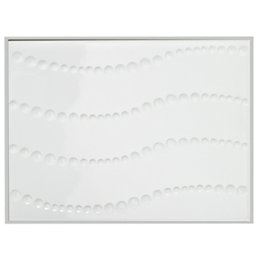 Way Dots White Ceramic Wall Tile, (L)330mm (W)250mm