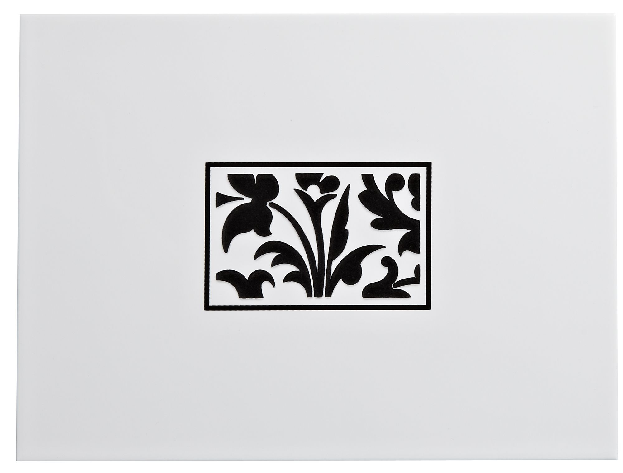 Flock Black & White Ceramic Wall Tile, (l)330mm (w)250mm