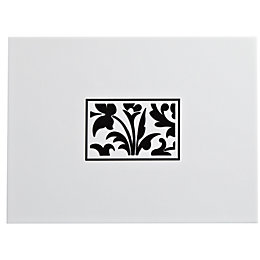 Flock Black & White Ceramic Wall Tile, (L)330mm