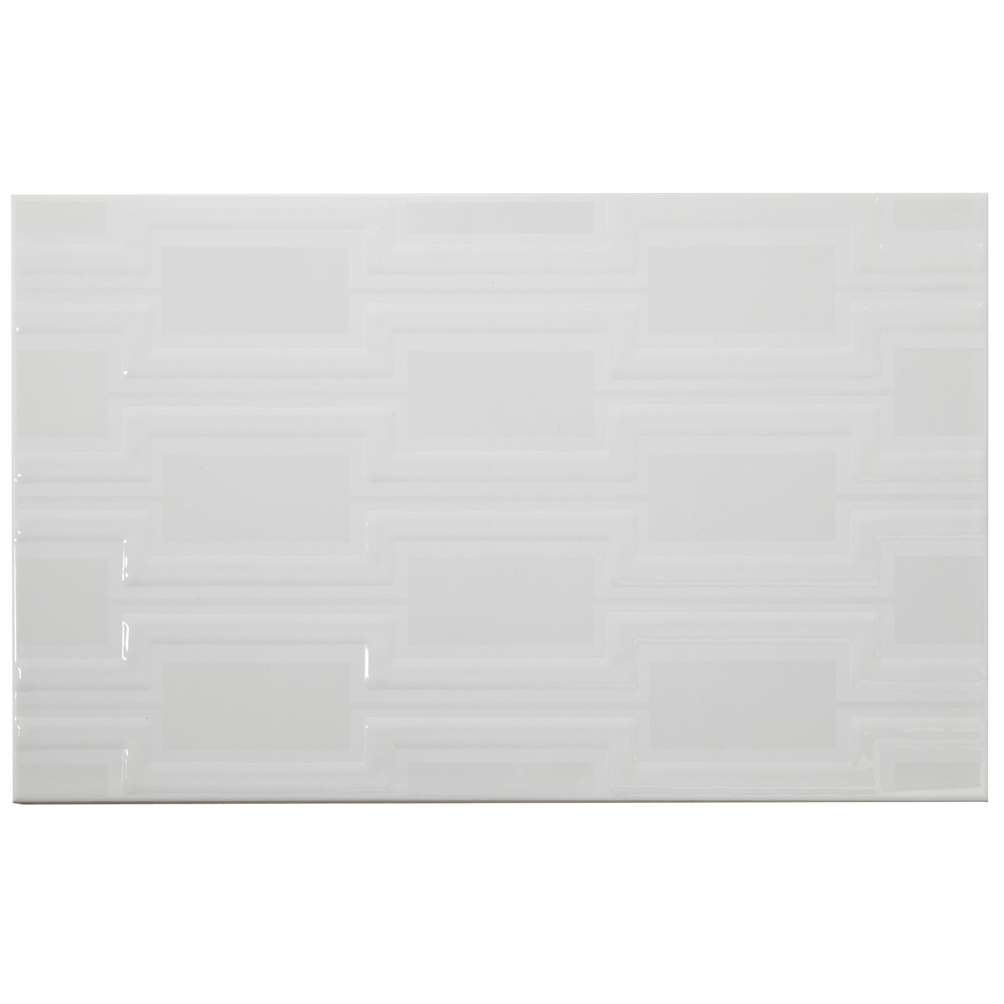 B And Q Kitchen Floor Tiles Bevelled Edge White Ceramic Wall Tile Pack Of 50 L200mm W