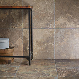 Brook Dark Stone Effect Porcelain Wall & Floor