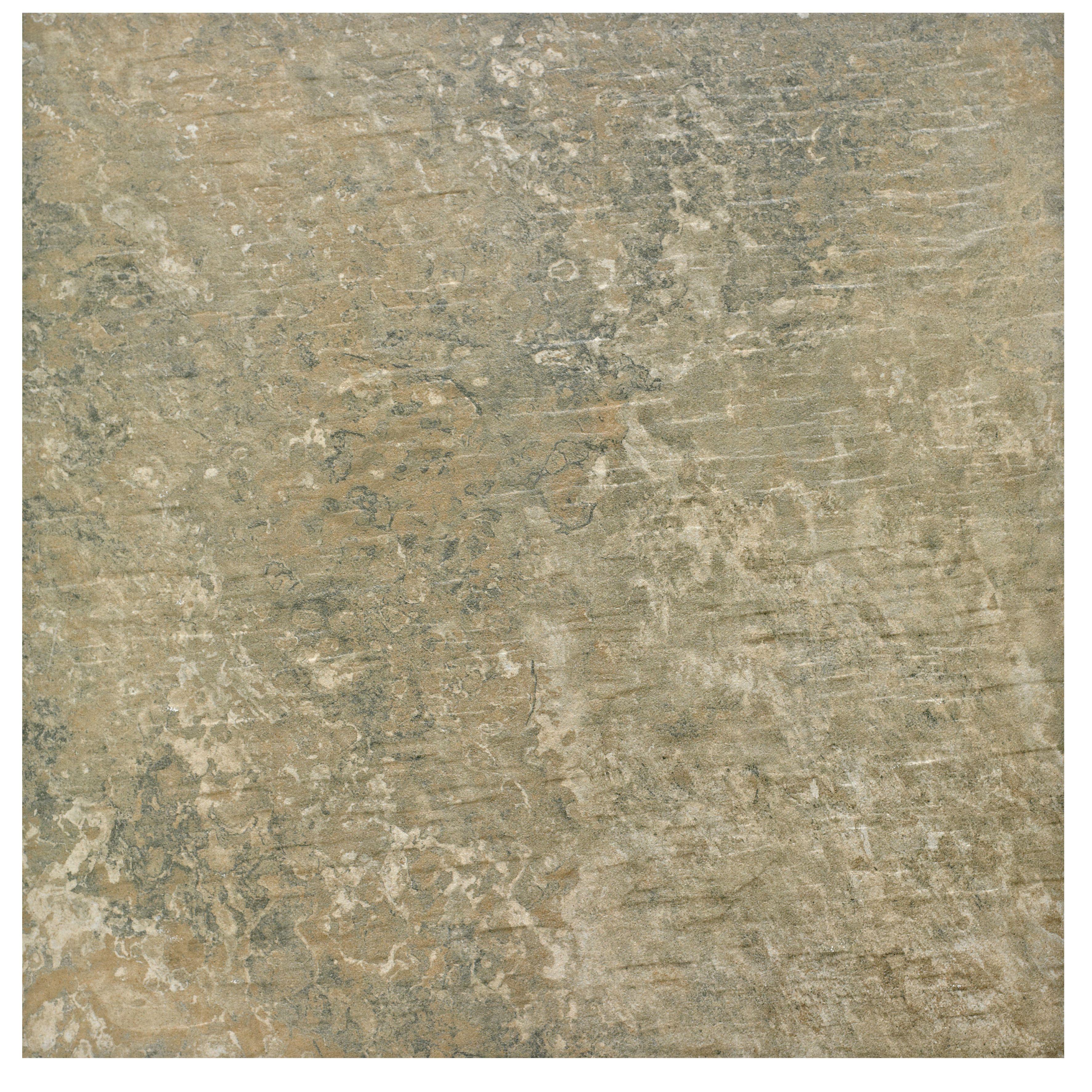 Brook Natural Stone Effect Porcelain Wall & Floor Tile, Pack Of 5, (l)450mm (w)450mm
