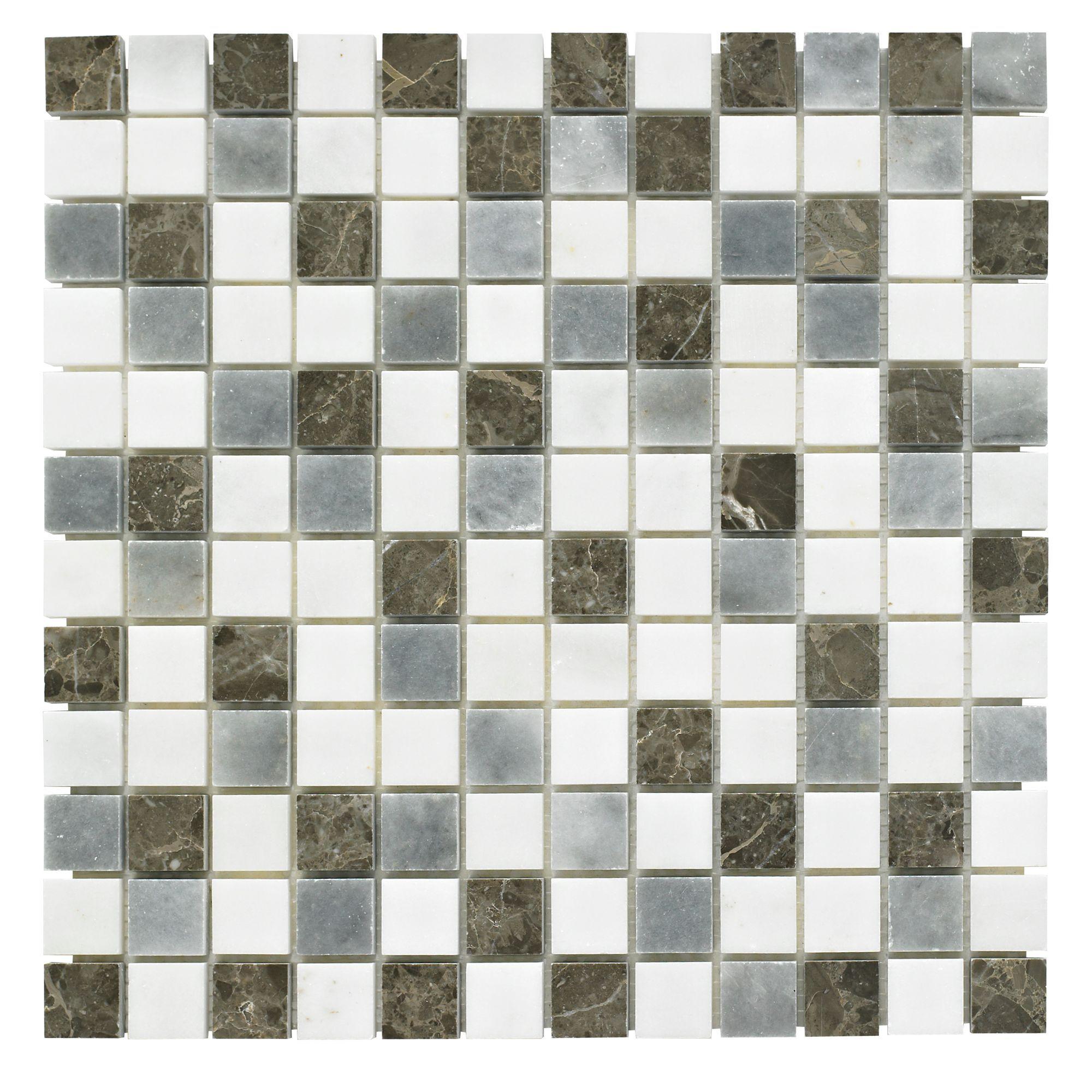 blue mosaic marble mosaic tile l 305mm w 305mm. Black Bedroom Furniture Sets. Home Design Ideas