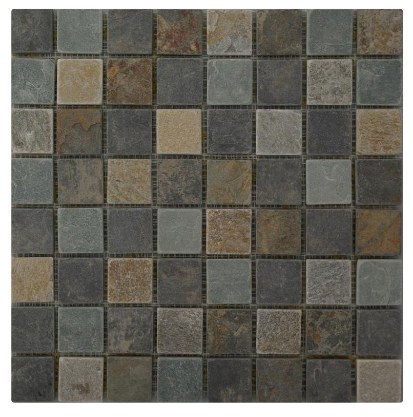Grey Slate Kitchen Wall Tiles: Quartzite Slate Grey Slate Mosaic Tile, (L)305mm (W)305mm