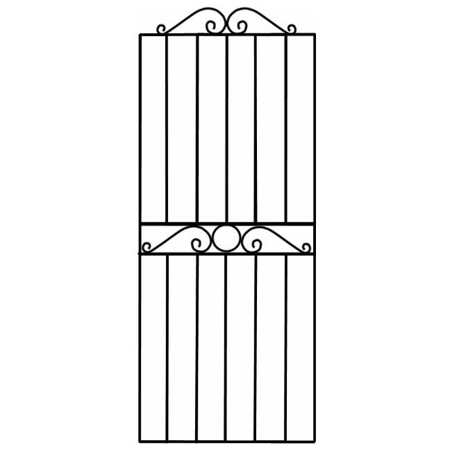 Blooma Steel Swirl Top Wide Gate (h)1.8m (w)0.81 M