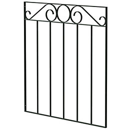 Blooma Steel Swirl Top Narrow Gate (H)850mm (W)770mm