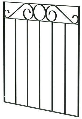 Blooma Steel Swirl Top Wide Gate (h)0.85m (w)0.81 M