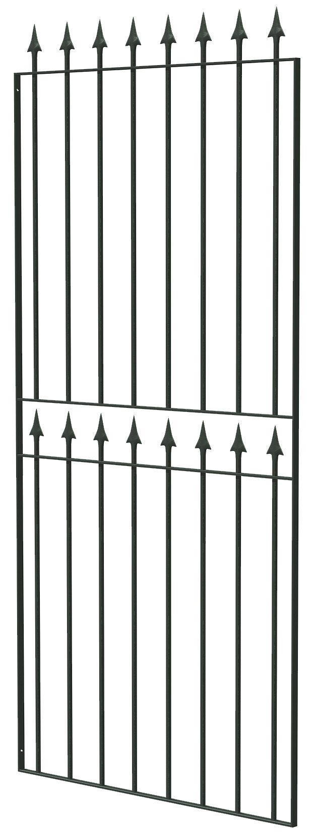 Blooma Steel Spear Top Narrow Gate (h)1.8m (w)0.77 M