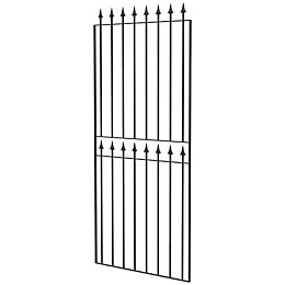 Blooma Steel Spear Top Wide Gate (H)1800mm (W)810mm