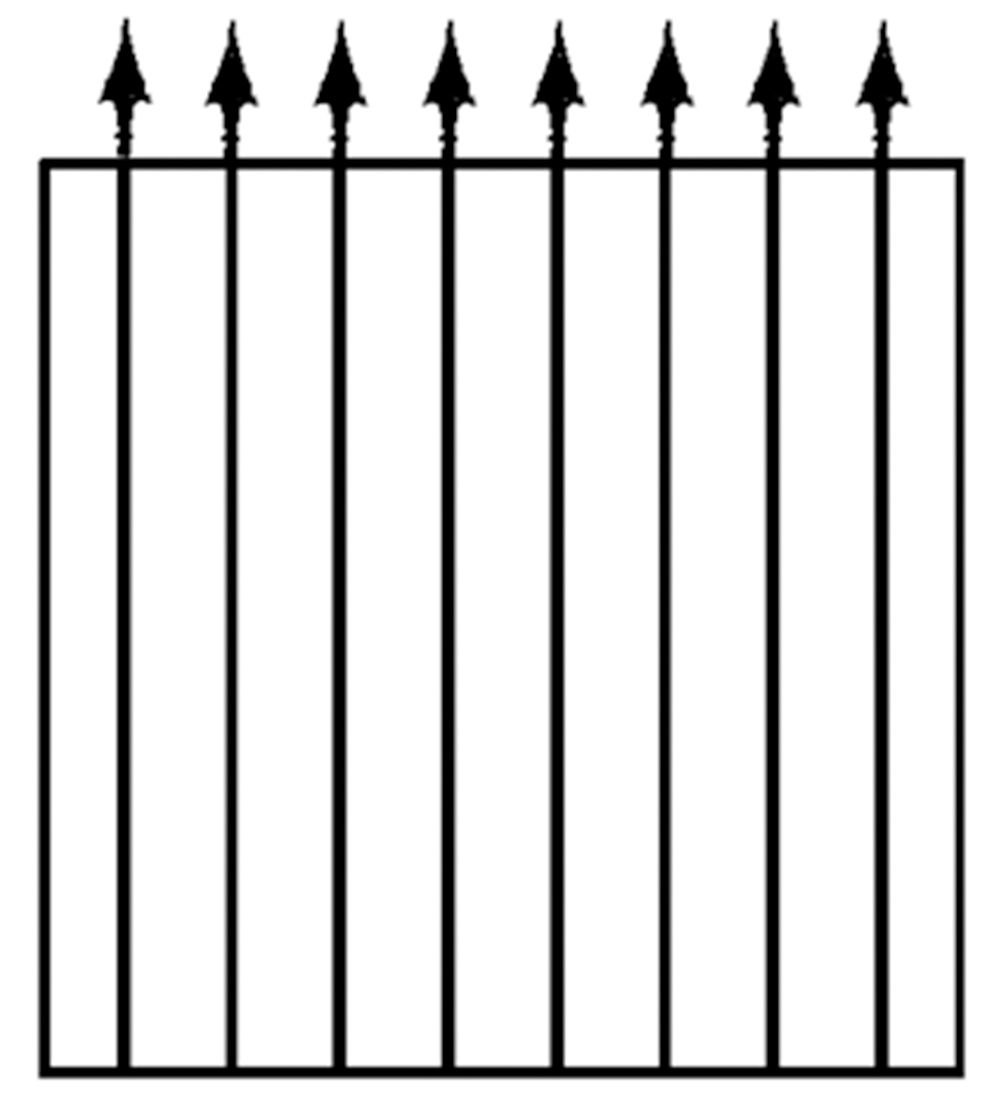 Blooma Steel Spear Top Wide Gate (h)0.93m (w)0.81 M