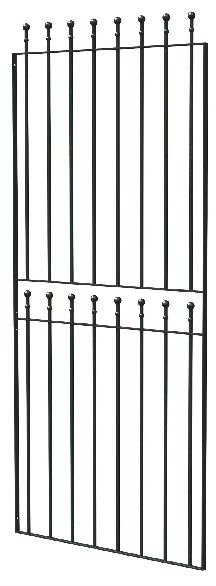 Blooma Steel Ball Top Wide Gate (h)1.8m (w)0.81 M