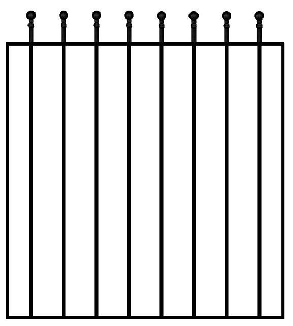 Blooma Steel Wide Gate (h)0.9m (w)0.81 M