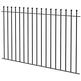 Ball Top Black Fence, (L)1810mm