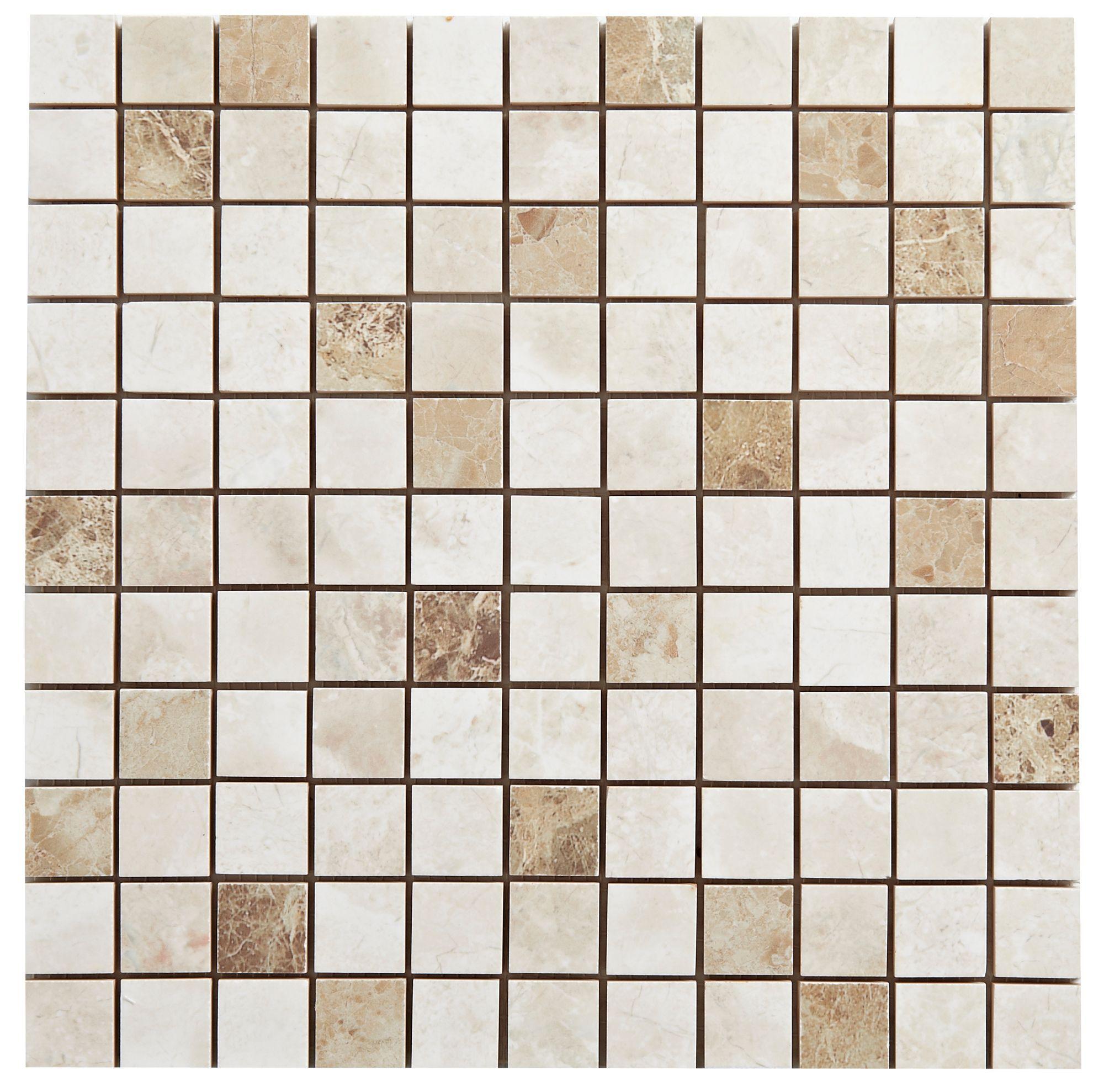 Illusion Light Stone Effect Ceramic Mosaic Tile, (l)300mm (w)300mm