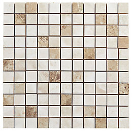 Illusion Light Ceramic Mosaic Tile, (L)300mm (W)300mm