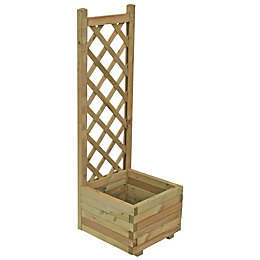Grow Your Own Wooden Pale Green Planter (H)1.22m