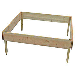 Blooma Rustic Timber Raised Bed (H)150mm (W)1m