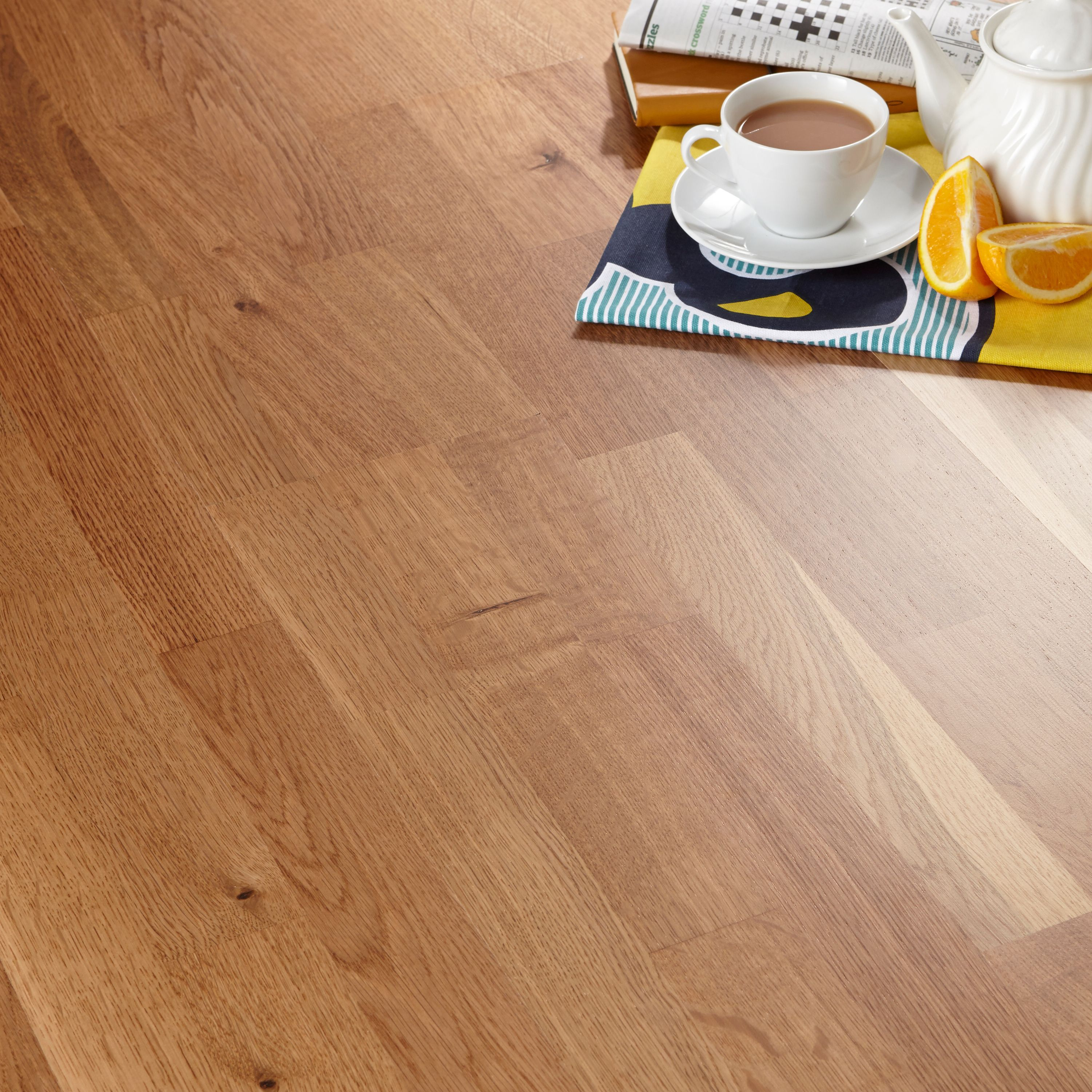 Colours Libretto Smoked Oak Effect Wood Top Layer Flooring 1.58m² Pack