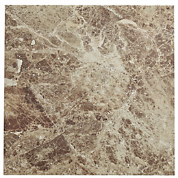 Illusion Emperador Marble Effect Stone Ceramic Floor Tile,